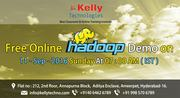 Free Online Hadoop Demo on 11-Sep-2016 Sunday At 7:00 AM(IST)