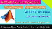 MATLAB Training in Hyderabad - MATLAB online Training in Hyderabad